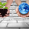 Earth,Conserve,Concept,With,Hands,Carrying,Global,And,Green,Tree